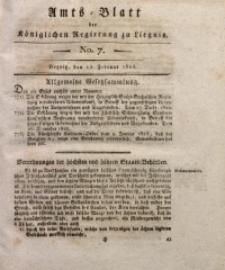 Amts-Blatt der Königlichen Liegnitzschen Regierung von Schlesien, 1823, Jg. 13, No. 7