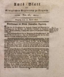 Amts-Blatt der Königlichen Liegnitzschen Regierung von Schlesien, 1823, Jg. 13, No. 15
