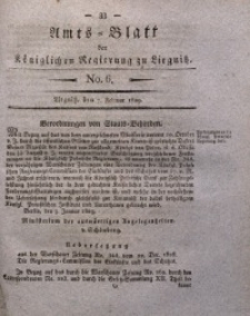Amts-Blatt der Königlichen Regierung zu Liegnitz, 1829, Jg. 19, No. 6
