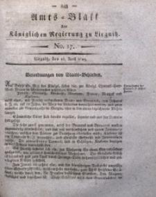 Amts-Blatt der Königlichen Regierung zu Liegnitz, 1829, Jg. 19, No. 17