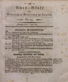 Amts-Blatt der Königlichen Regierung zu Liegnitz, 1830, Jg. 20, No. 29