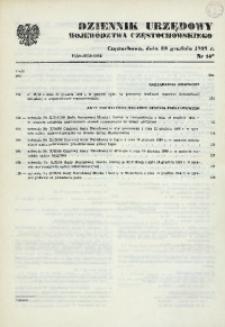 Dziennik Urzędowy Województwa Częstochowskiego, 1989, Nr 14