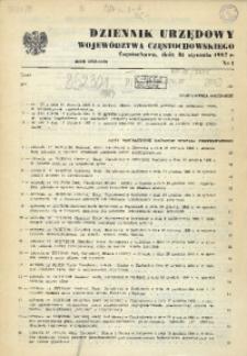 Dziennik Urzędowy Województwa Częstochowskiego, 1987, Nr 1