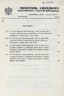 Dziennik Urzędowy Województwa Częstochowskiego, 1994, Nr 15