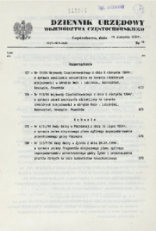 Dziennik Urzędowy Województwa Częstochowskiego, 1994, Nr 16