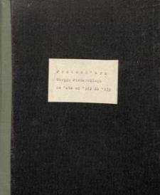 Protokólarz Okręgu Piekarskiego za lata od 1922 do 1939