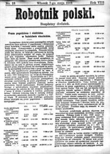 Robotnik Polski, 1912, R. 8, nr 18