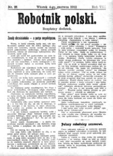 Robotnik Polski, 1912, R. 8, nr 21