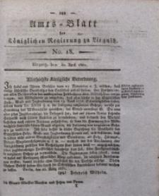Amts-Blatt der Königlichen Regierung zu Liegnitz, 1831, Jg. 21, No. 18