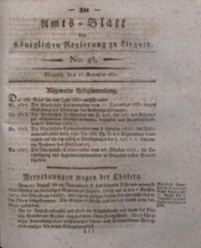 Amts-Blatt der Königlichen Regierung zu Liegnitz, 1831, Jg. 21, No. 48