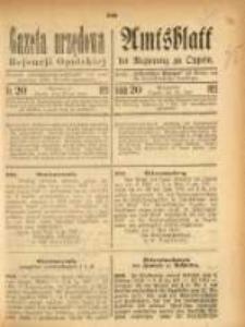 Gazeta Urzędowa Rejencji Opolskiej, 1921, Nr. 20