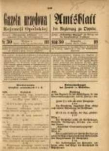 Gazeta Urzędowa Rejencji Opolskiej, 1921, Nr. 30