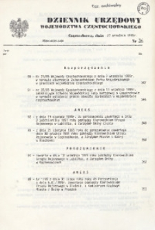 Dziennik Urzędowy Województwa Częstochowskiego, 1995, Nr 26