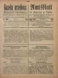 Gazeta Urzędowa Rejencji Opolskiej, 1920, Nr. 20