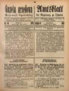 Gazeta Urzędowa Rejencji Opolskiej, 1922, Nr. 6