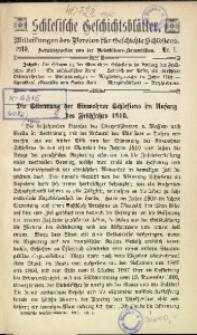Schlesische Geschichtsblätter, 1910, Nr. 1
