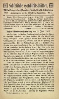 Schlesische Geschichtsblätter, 1912, Nr. 3