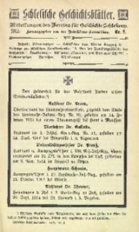 Schlesische Geschichtsblätter, 1915, Nr. 2
