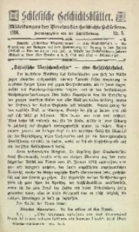Schlesische Geschichtsblätter, 1916, Nr. 3