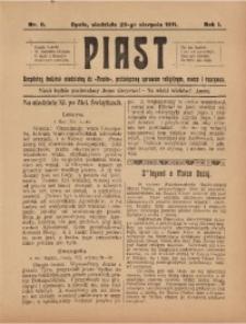 Piast, 1911, R. 1, Nr. 8