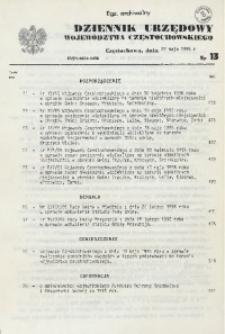 Dziennik Urzędowy Województwa Częstochowskiego, 1996, Nr 13