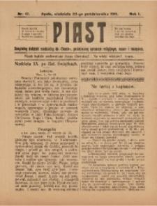 Piast, 1911, R. 1, Nr. 17