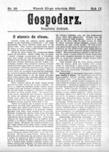 Gospodarz, 1913, R. 9, nr 38