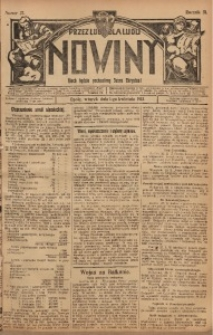 Nowiny, 1913, R. 3, nr 37