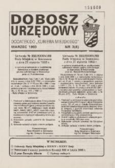 Dobosz Urzędowy, 1993, nr 3 (6)