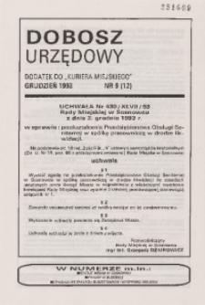 Dobosz Urzędowy, 1993, nr 9 (12)