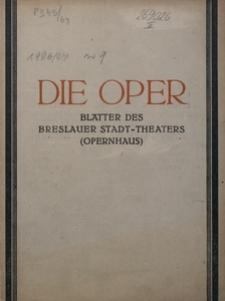 Die Oper. Blätter des Bresualer Stadttheaters, 1926/27, H. 9