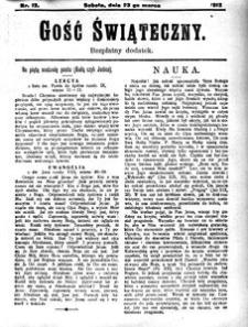 Gość Świąteczny, 1912, R. 10, nr 12