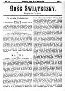 Gość Świąteczny, 1912, R. 10, nr 14