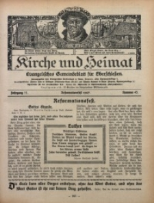 Kirche und Heimat, 1927, Jg. 11, nr 45