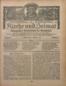 Kirche und Heimat, 1928, Jg. 12, nr 51