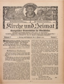 Kirche und Heimat, 1929, Jg. 13, nr 3
