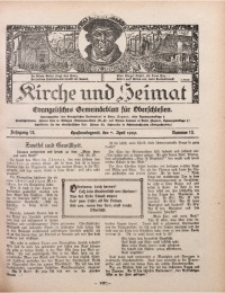 Kirche und Heimat, 1929, Jg. 13, nr 15