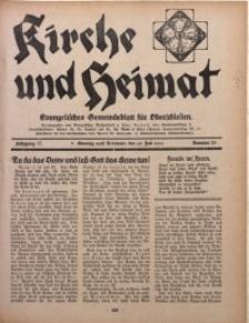 Kirche und Heimat, 1931, Jg. 15, nr 29