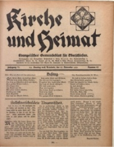 Kirche und Heimat, 1931, Jg. 15, nr 46