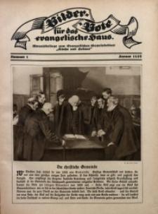 Bilder Bote für das Evangelische Haus, 1927, nr 1