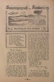 Sonntagsgruß fürs Kinderherz, 1926, Nr. 4