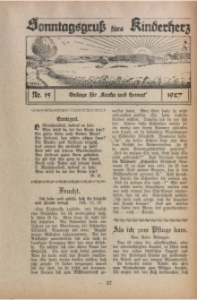 Sonntagsgruß fürs Kinderherz, 1927, Nr. 15