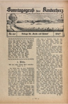 Sonntagsgruß fürs Kinderherz, 1927, Nr. 20