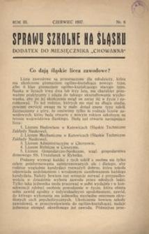 Sprawy szkolne na Śląsku, 1937, R. 3, nr 6