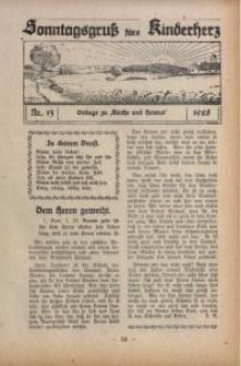 Sonntagsgruß fürs Kinderherz, 1928, Nr. 13