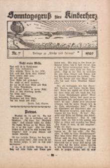 Sonntagsgruß fürs Kinderherz, 1929, Nr. 7