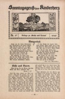 Sonntagsgruß fürs Kinderherz, 1929, Nr. 17