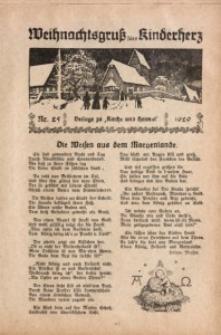 Sonntagsgruß fürs Kinderherz, 1929, Nr. 25