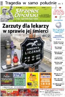 Strzelec Opolski : twój tygodnik regionalny : Strzelce Opolskie, Izbicko, Jemielnica, Kolonowskie, Leśnica, Ujazd, Zawadzkie, Toszek 2016, nr 10 (863).