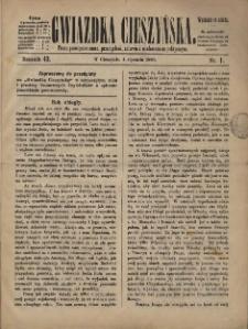 Gwiazdka Cieszyńska, 1890, Nry 1-2